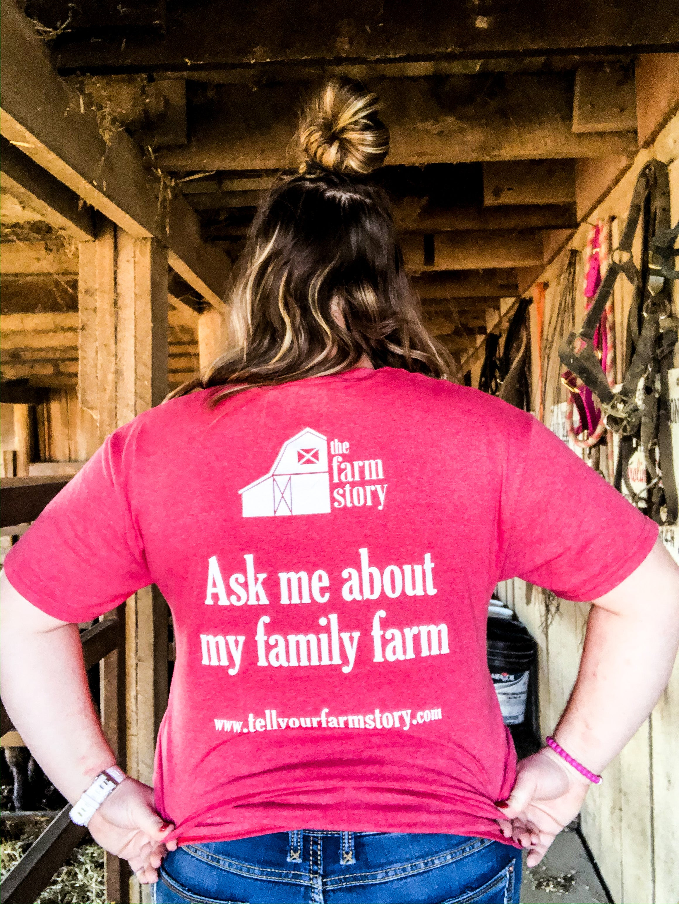 """Ask Me About My Family Farm"" T-Shirt"