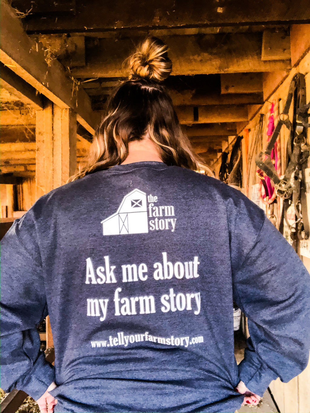 """Ask Me About My Farm Story"" Crewneck Sweatshirt"