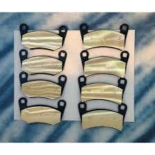 2009-2013 POLARIS 500 SPORTSMAN FULL SET FRONT AND REAR HEAVY DUTY BRASS BRAKE PADS
