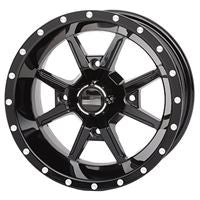 12x7 Frontline 556 Black Wheel