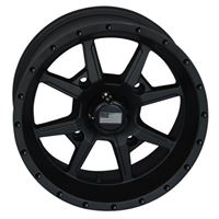 14x7 Frontline 556 Black Wheel