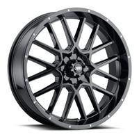 ITP Hurricane 20x6.5 Gloss Black 4/156