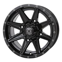 15x7 Frontline 308 Black Wheel