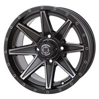 Frontline 308 Matte Black Wheel Set