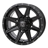 14x7  Frontline 308 Black Wheel