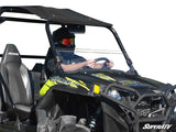 SuperATV Heavy Duty Clear Scratch Resistant Half Windshield for Polaris RZR 800/800 S