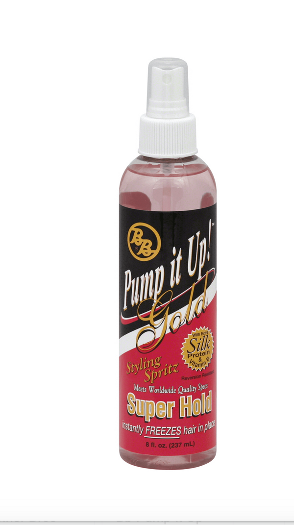 Bronners Brothers Pump it Up Spritz Super Hold 8 oz - BPolished Beauty Supply