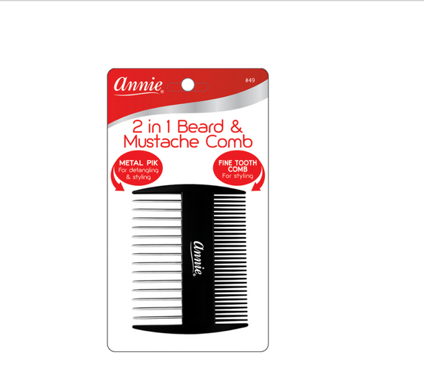 Annie #0049 Comb 2 in 1 Beard / Mustache - BPolished Beauty Supply