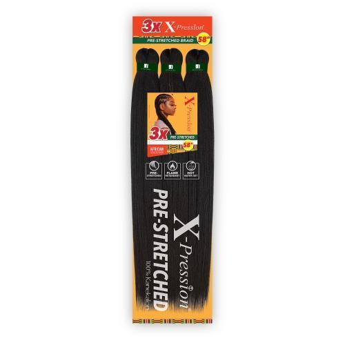 "Sensationnel Braids XPRESSION 3X Pre-Stretched Braid 58"" - BPolished Beauty Supply"