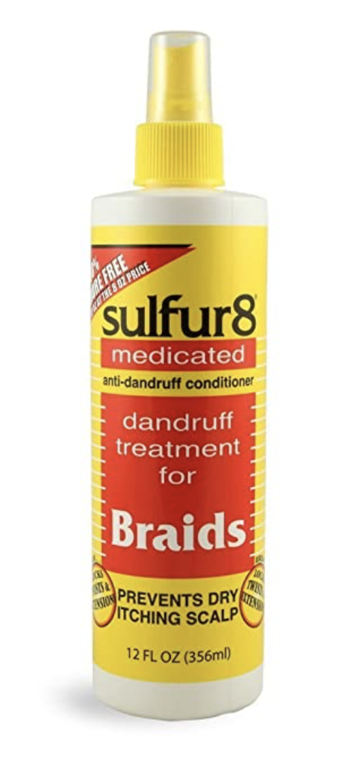 Sulfur8 Medicated Anti Dandruff Conditioner Braid Spray 12 fl oz