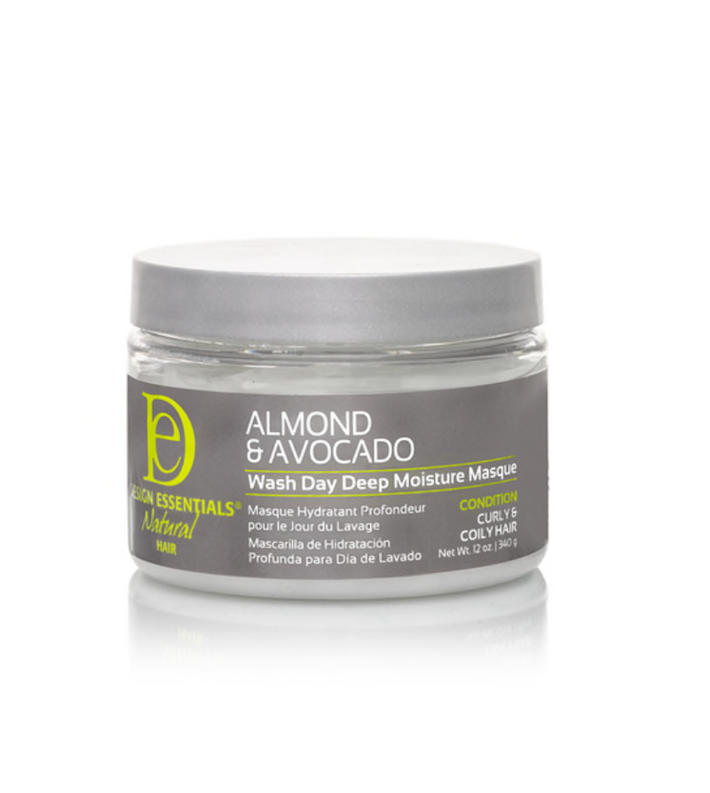 Design Essentials Natural Almond & Avocado Wash Day Deep Moisture Masque 12 oz - BPolished Beauty Supply