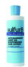 Sulfur8 Medicated Anti-Dandruff Light Oil Moisturizing Hair Lotion 8 fl oz