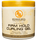 Bronner Bros Shea Castor Strengthener Firm Hold Curling Gel  6 oz.