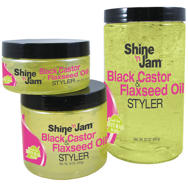 Ampro Pro Style Shine Black/Castor Flaxseed Oil - BPolished Beauty Supply