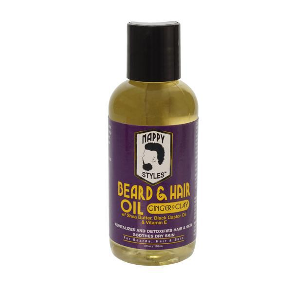 Nappy Styles Beard Oil Ginger & Clay (4 oz.) - BPolished Beauty Supply