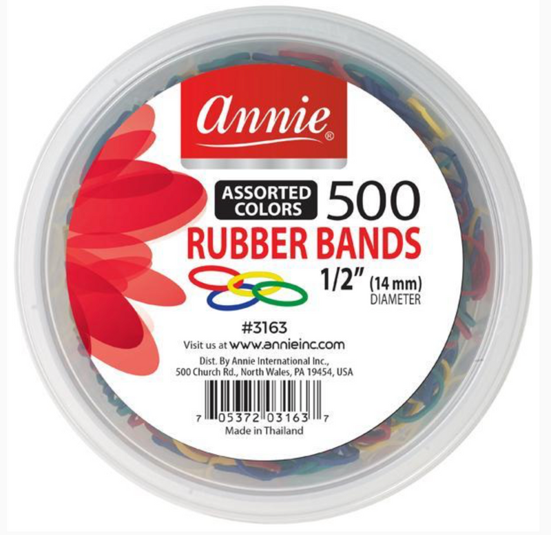 Annie 500 Rubberbands Assorted Colors