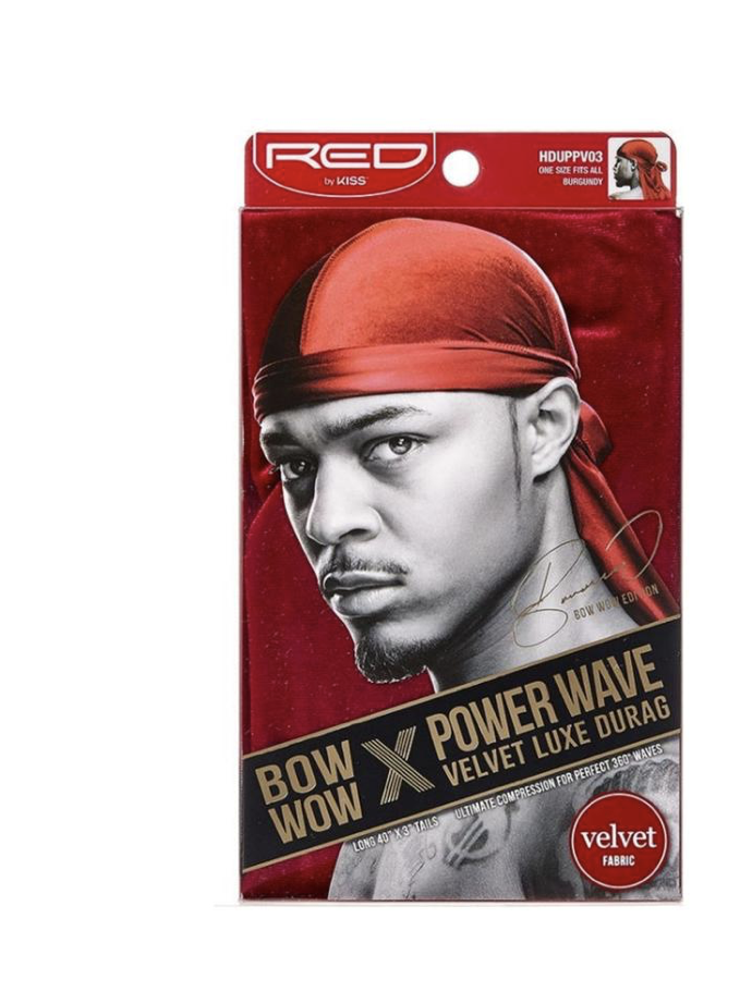 Red Power Wave Velvet Luxe Durag
