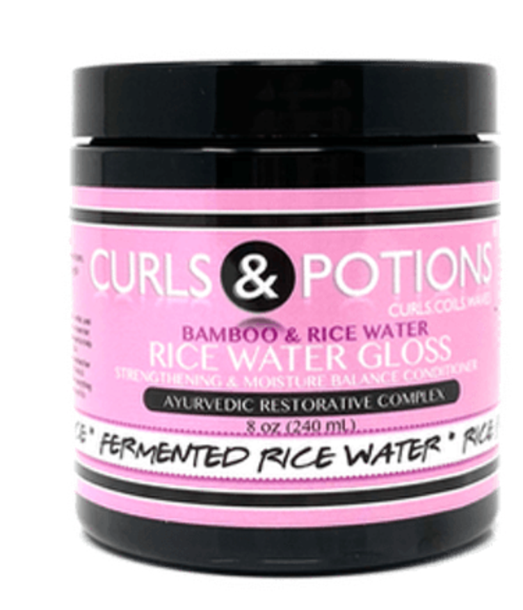 Curls & Potions Rice Water Gloss 8 oz