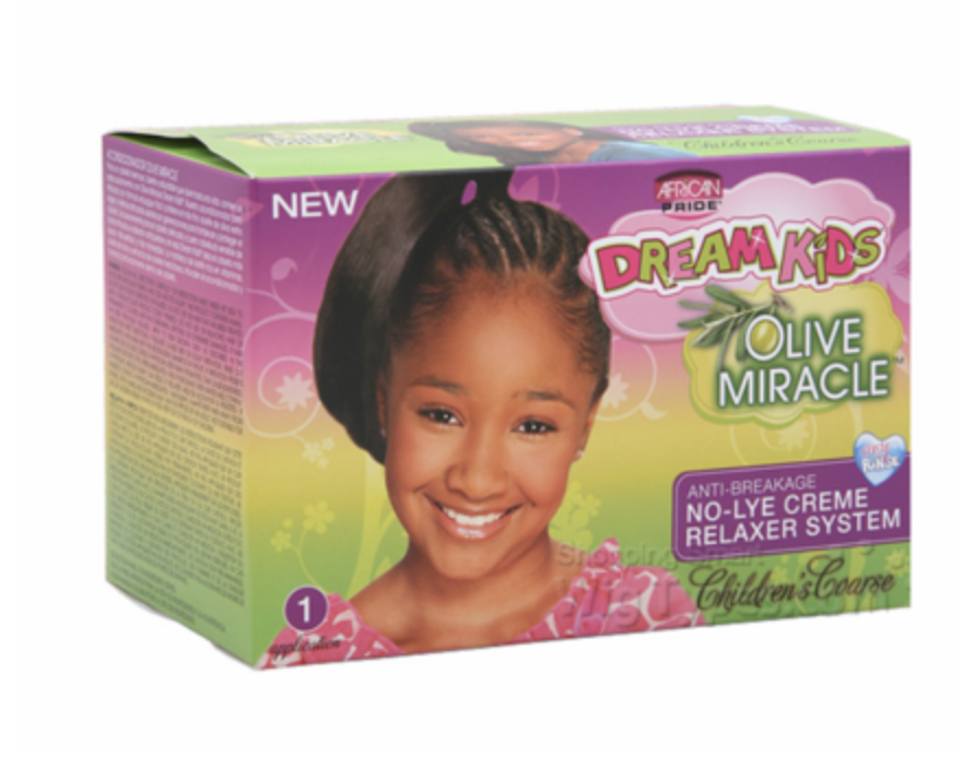 African Pride Dream Kids Olive Miracle Anti-Breakage No-Lye Cream Relaxer System  - Coarse