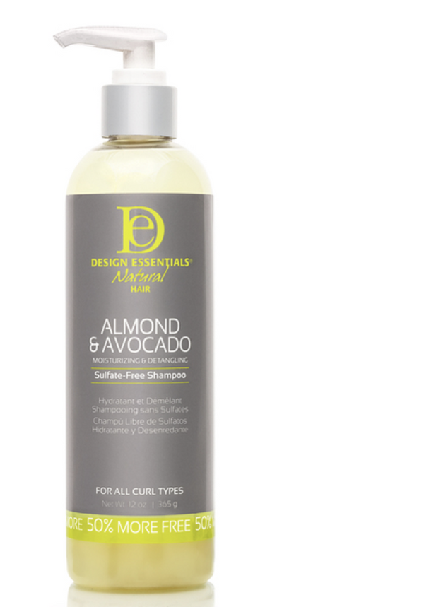 Design Essentials  Natural Almond & Avocado Moisturizing & Detangling Sulfate-Free Shampoo 12 oz - BPolished Beauty Supply