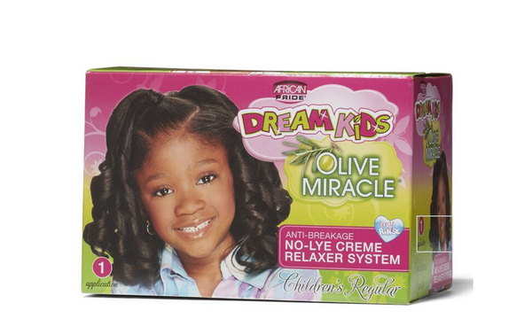 African Pride Dream Kids Olive Miracle Anti-Breakage No-Lye Cream Relaxer System  - Regular - BPolished Beauty Supply