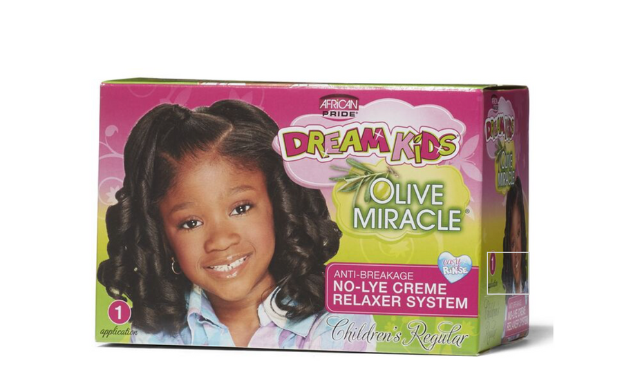 African Pride Dream Kids Olive Miracle Anti-Breakage No-Lye Cream Relaxer System  - Regular