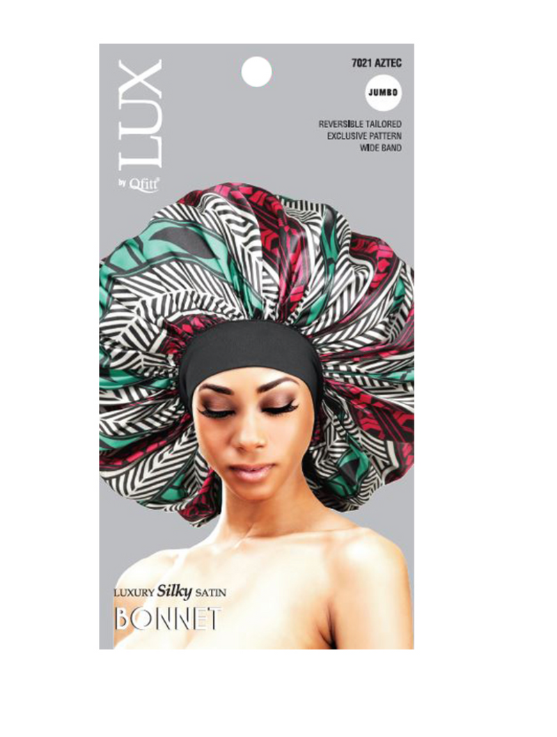 Lux by Qffit Silk Luxury Silky Satin Bonnet