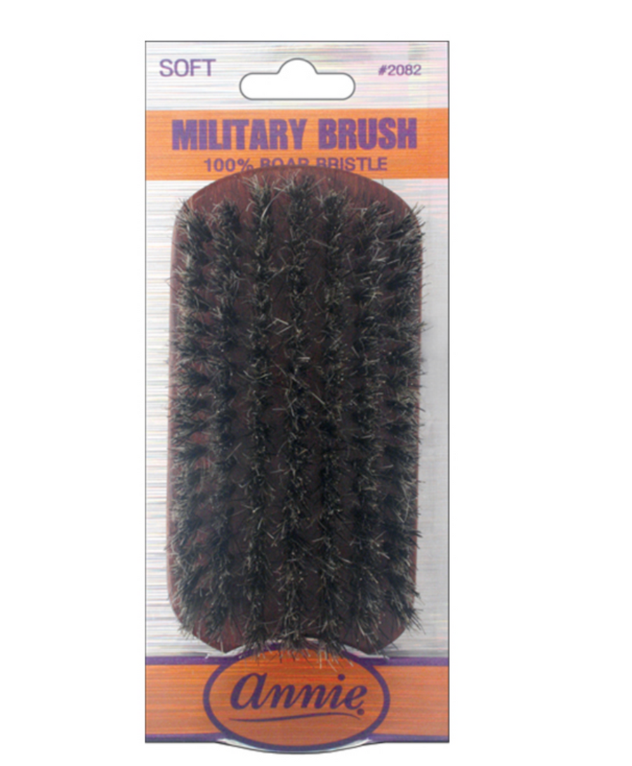 Annie Soft Military Brush (100% Pure Boar) # 2082