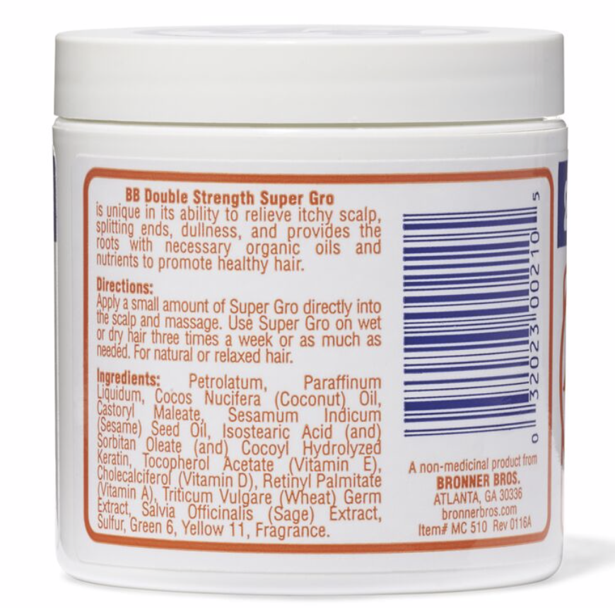 Bronner Brothers Super Gro Double Strength 6 oz