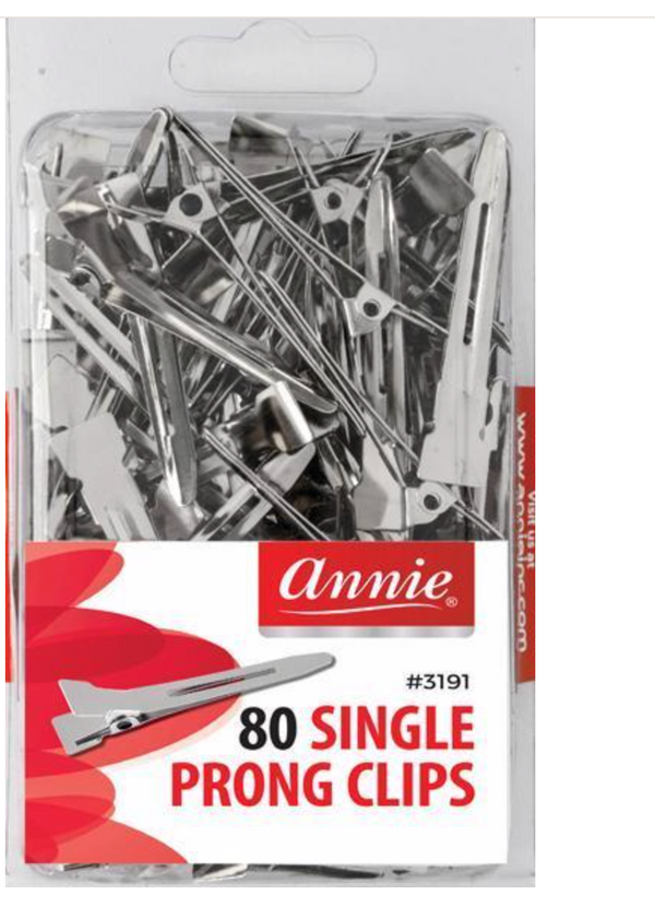 Annie 80 Single Prong Clips #3081 - BPolished Beauty Supply