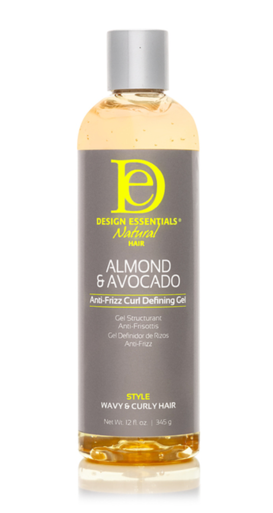 Design Essentials Natural Almond & Avocado Anti Frizz Curl Defining Gel 12 oz