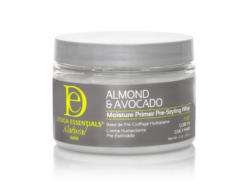 Design Essentials Natural Almond & Avocado Moisture Primer Pre-Styling Whip 12 oz - BPolished Beauty Supply
