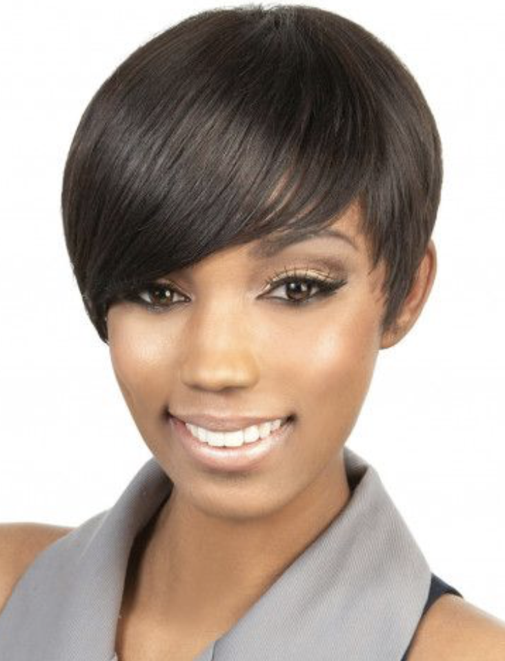 Motown Tress Volta  (Human Hair Short Sweet Bang)