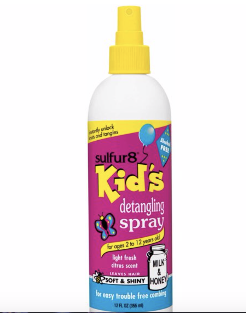 Sulfur8 Kids Anti-Dandruff Detangling Spray 12 oz