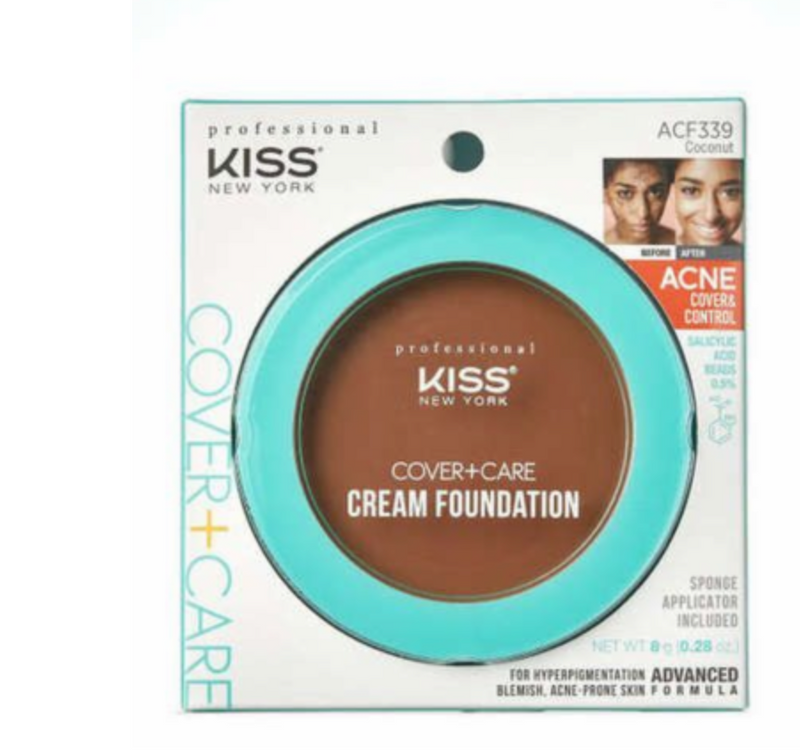 Kiss New York Professional Cover+Care Cream Foundation Coconut ACF339 - BPolished Beauty Supply