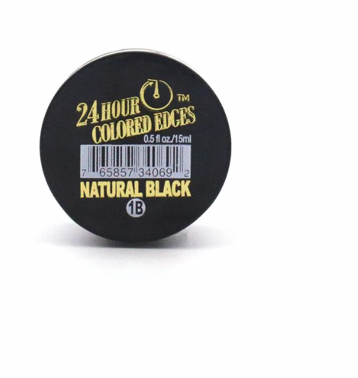 EBIN 24 HOUR COLORED EDGE TAMER - NATURAL BLACK - BPolished Beauty Supply