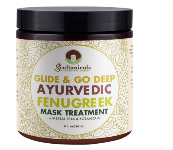 Soultanicals Glide & Go Deep Ayurvedic Fenugreek Mask Treatment 8 oz - BPolished Beauty Supply