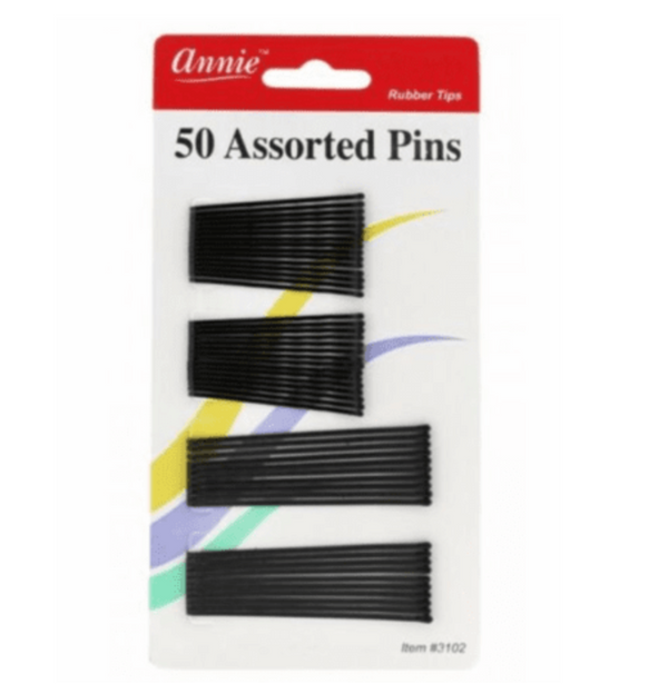 Annie 50 Assorted Pins 2 Black #3102 - BPolished Beauty Supply