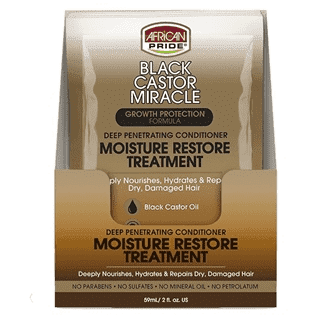 African Pride Black Castor Moisture Restore Treatment 2 oz