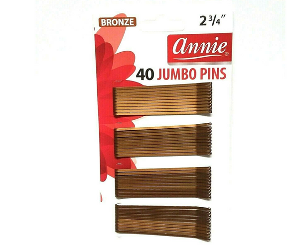 Annie Bobby Pins Bronze 40ct Jumbo - BPolished Beauty Supply