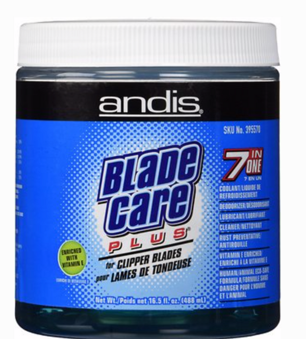 Andis Blade Care Plus 7 n 1 (Jar) 16 oz - BPolished Beauty Supply