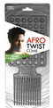 Donna Afro Twist Comb Black #36001 - BPolished Beauty Supply