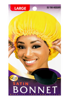M&M Satin Bonnet Large  (Black & Assorted) - BPolished Beauty Supply