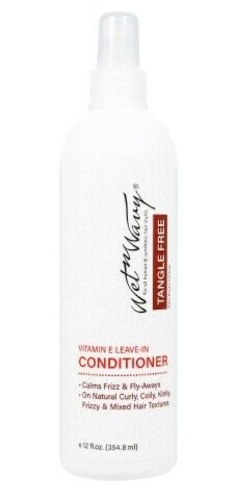 Wet N Wavy Tangle Free Vitamin E Leave-in Conditioner Define Wave Patterns 12 oz