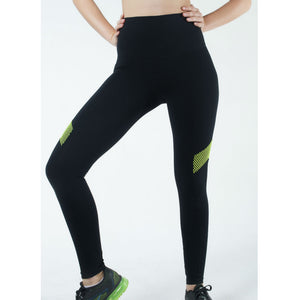 FEARLESS PANT, BLACK/NEON GREEN