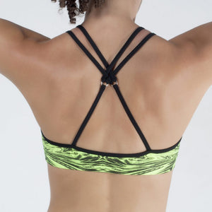 SCULPT SPORTS BRA, GREEN/BLACK