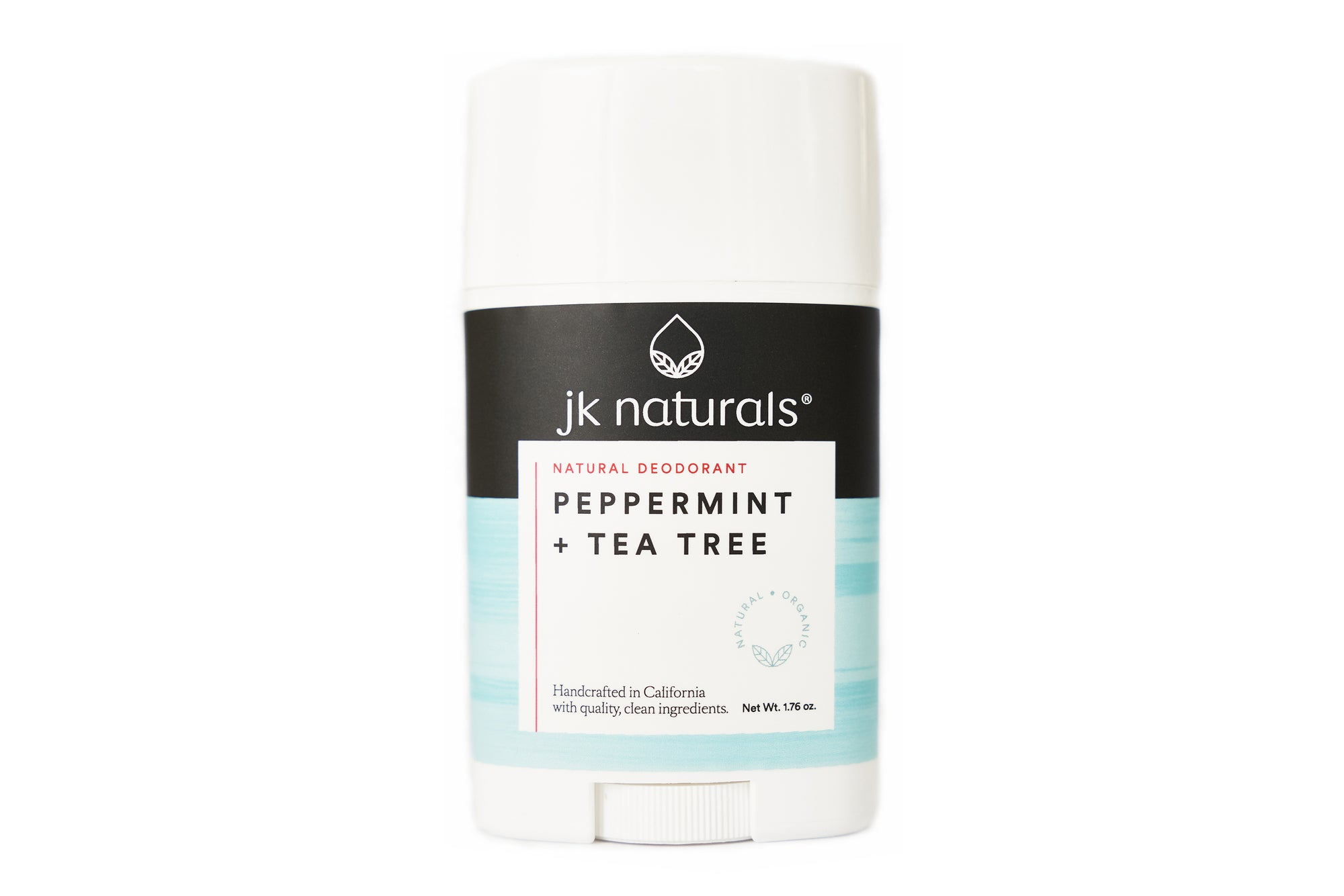 Best Natural Deodorant Stick | Peppermint + Tea Tree