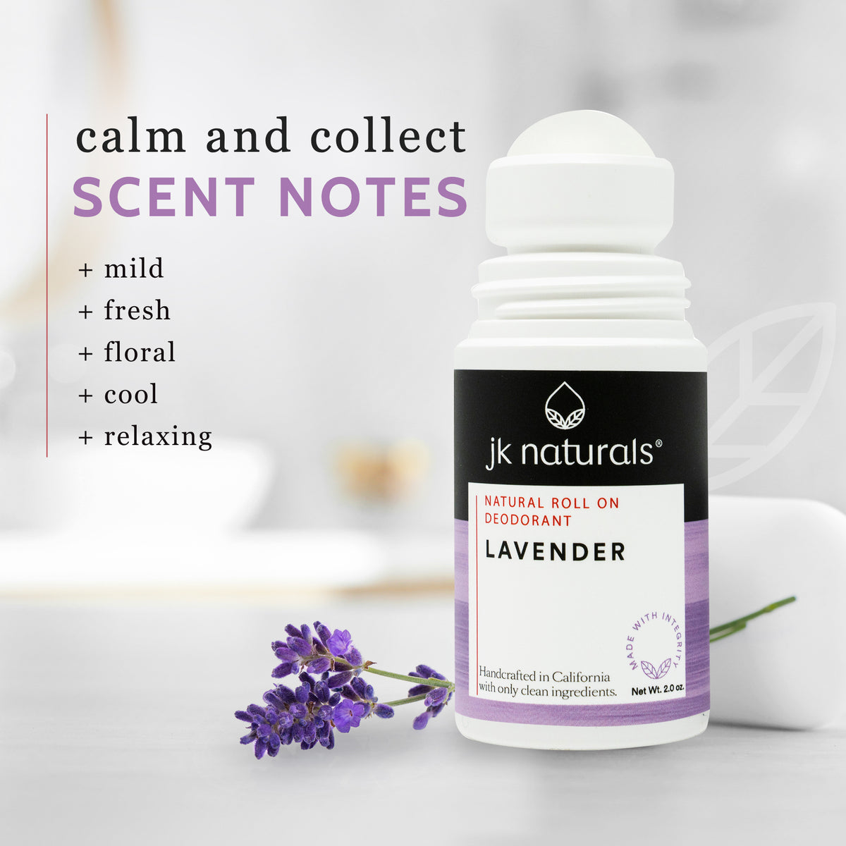 Best Natural Deodorant Roll On | Lavender