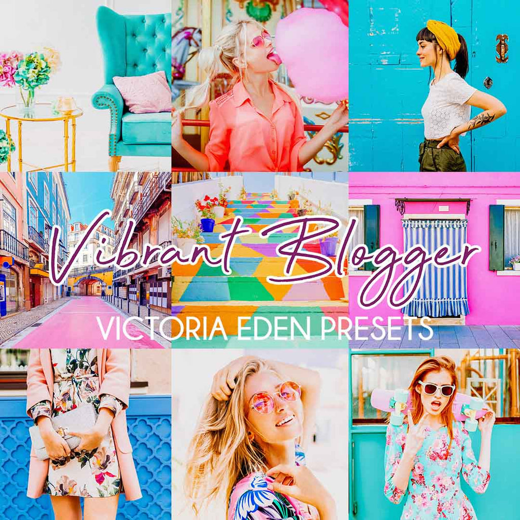 VIBRANT BLOGGER (Mobile + Desktop Lightroom Presets)