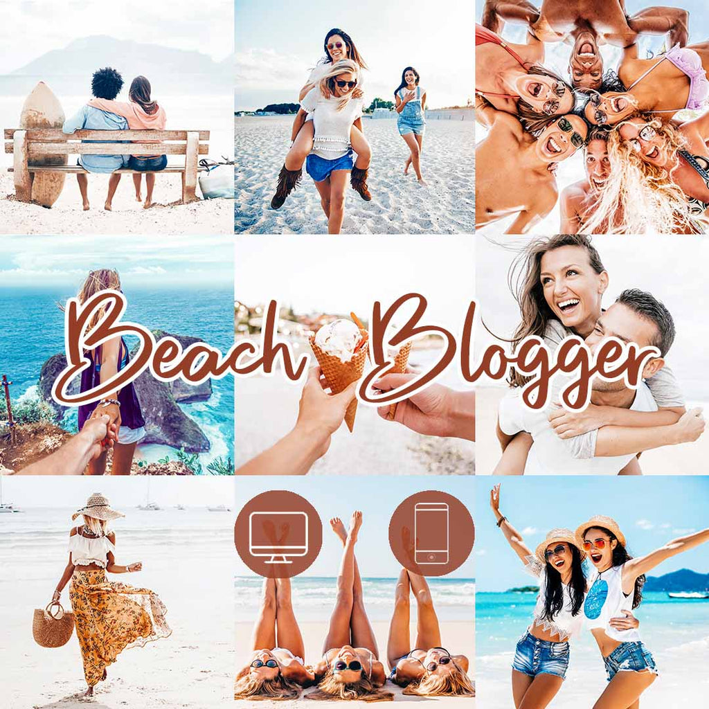 BEACH BLOGGER (Mobile + Desktop Lightroom Presets)